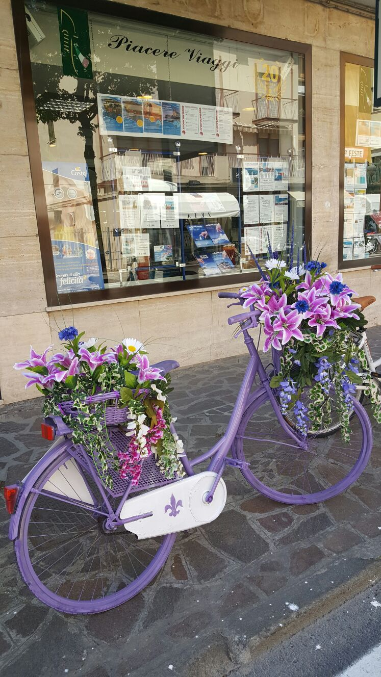 Biciclette in fiore